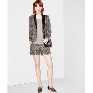 """THE KOOPLES """"Fluid Baby"""" Leopard Leather Shorts"""